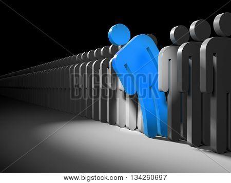 Different people. 3d illustration