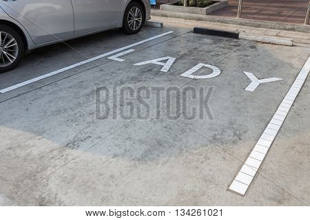 Free Space Parking Area For Lady