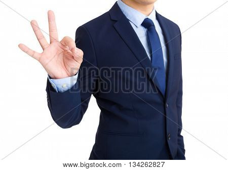 Business man showing ok sign gesture
