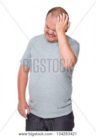 Man suffer from headache