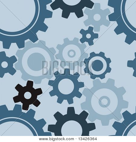 seamless cogwheel pattern - factory background