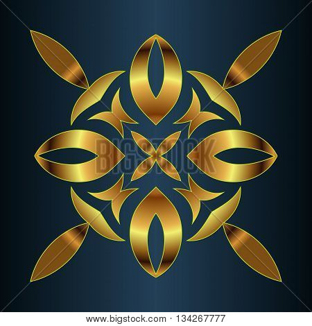 Abstract illusion texture pattern lines in the form of a convex symmetrical ellipse pattern in a square on a brown gradient background