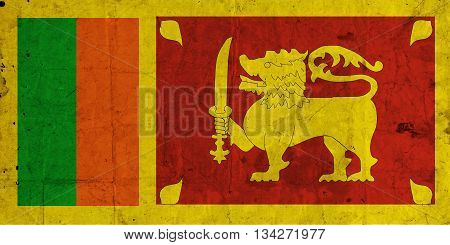 Sri Lanka grunge flagon old paper  texture background