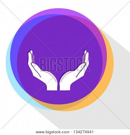 human hands. Internet template. Vector icon.