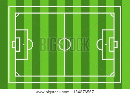 Soccer field illustration with green in background