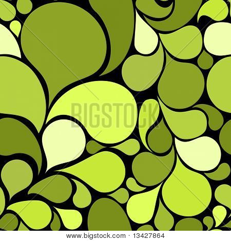 Green abstract seamless pattern made from various spatters (vector)