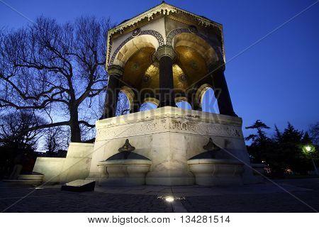 German Fountain in Sultanahmet square, Istanbul, Turkey