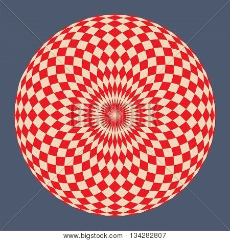 Colored hypnotic Abstract background. Vector Illustration. EPS10