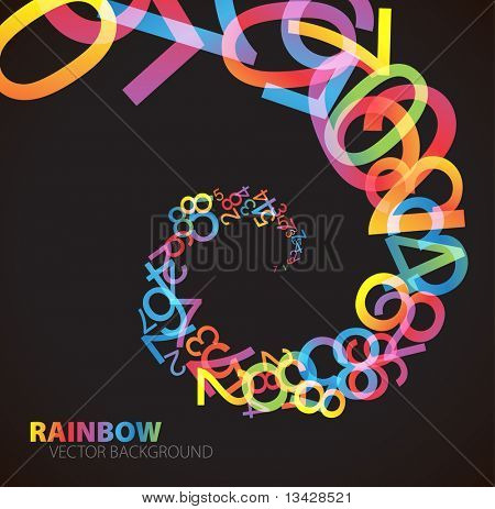 bstract background with colorful rainbow numbers