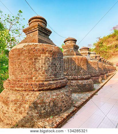 Buddhist temple Shai-thaung in Mrauk U. Myanmar.