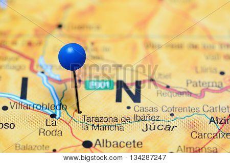 Tarazona de la Mancha pinned on a map of Spain