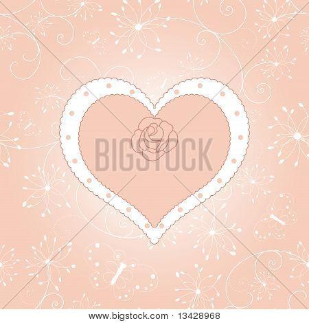 Rosa rot Valentinstag-Grußkarte