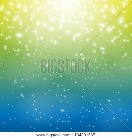 Colored Star Sky Vector Illustration Background EPS10