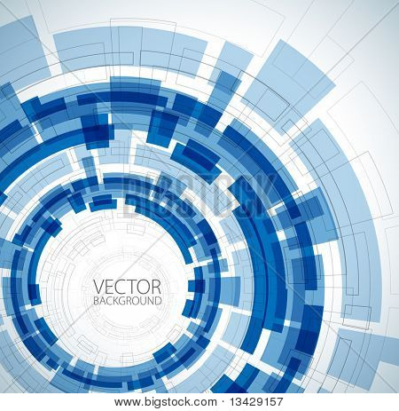 Abstract blue technical background with place for your text