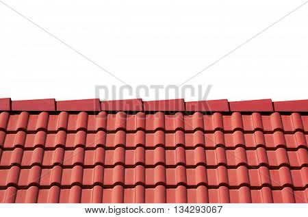 Roof Tiles Isolated On White
