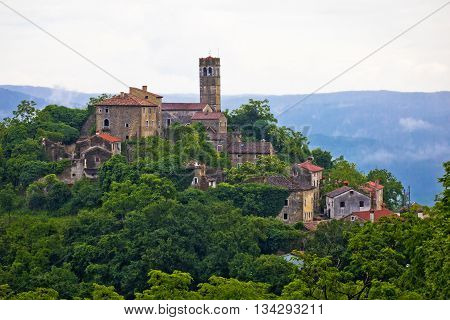 Village of Zavrsje in green landscape Istria Croatia