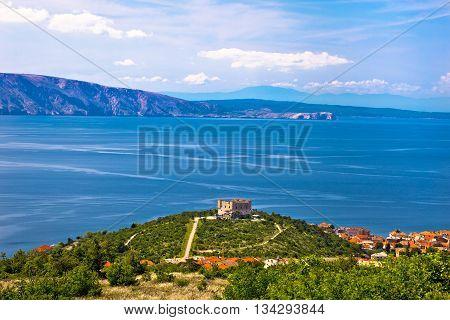 Nehaj fortress above blue sea Senj Croatia
