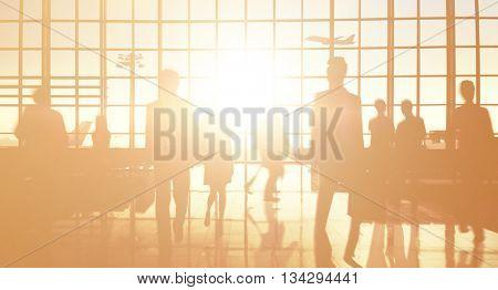 International Airport Terminal Travel Business Trip Concept