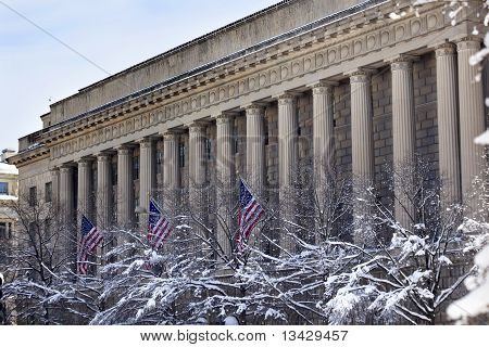 Commerce Department After The Snow Pennsylvania Avenue Washington Dc