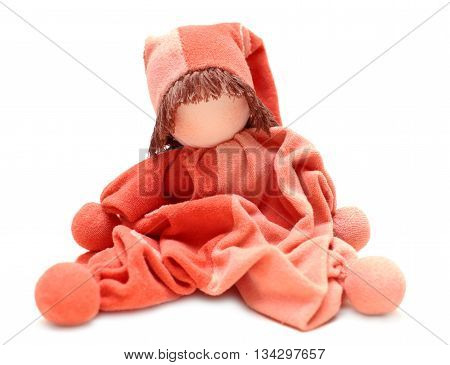 Traditional eco doll sewed mother for newborn baby
