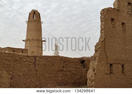The city of El Qasr in the Sahara Desert in Egypt