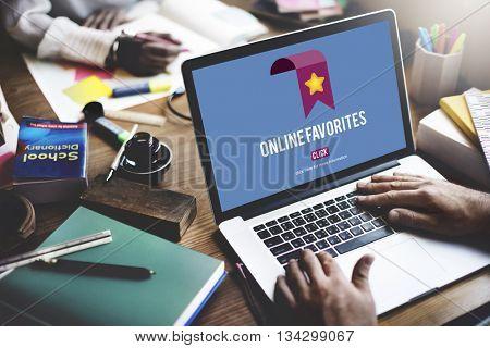 Online Favorites Internet Bookmark Technology Concept