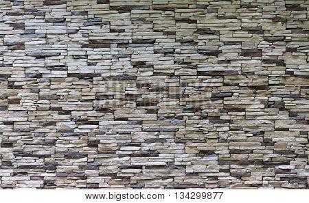 Decorative finishing wall with the stone masonry