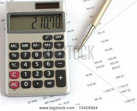 Calculator Pen And Finances