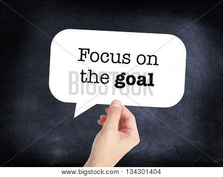 Focus on the goal as a concept