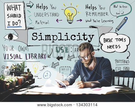 Simplicity Contemporary Minimal Modern Peace Concept