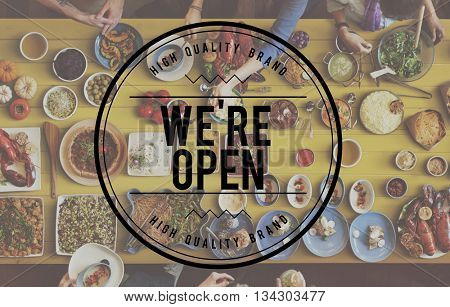 Welcome Hospitality Guest We Open Concept