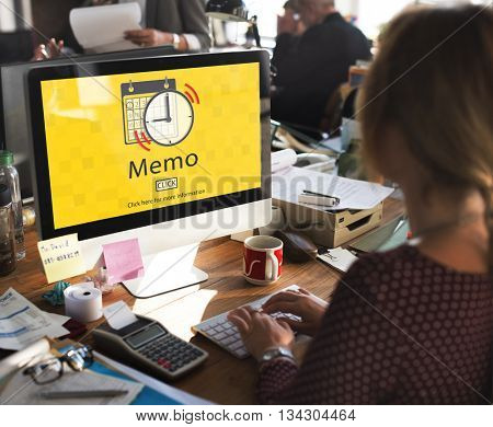 Memo Schedule Notes Plan Notice Concept