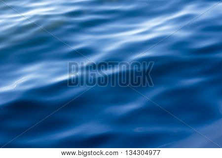 Water waves pattern. Blue water abstract background.