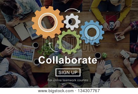 Collaboration Collaborate Connection Corpoate Concept