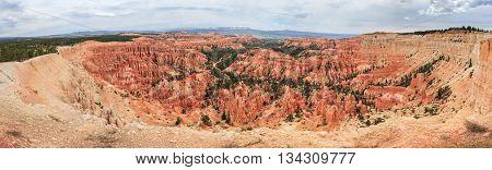 Panorama Of Bryce Canyon National Park, Utah,  Usa