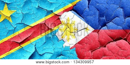 Democratic republic of the congo flag with Philippines flag