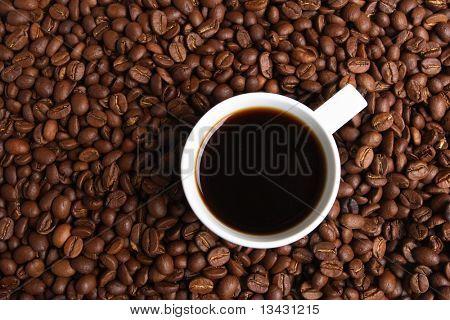 Tasse Kaffee, Kalkulation auf Kaffee-grain