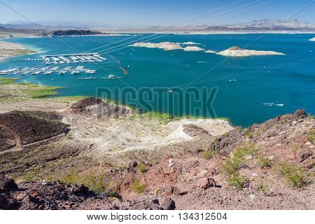 Lake Mead Near Hoover Dam Between Nevada And Arizona,  Usa
