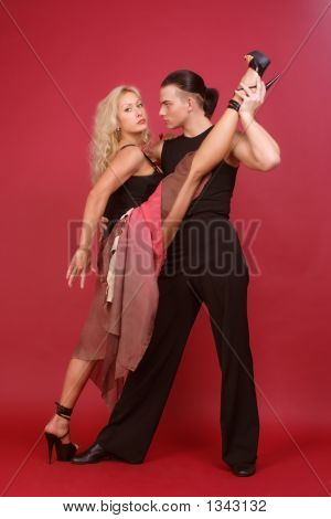 Gorgeous Couple Dancing Argentine Tango