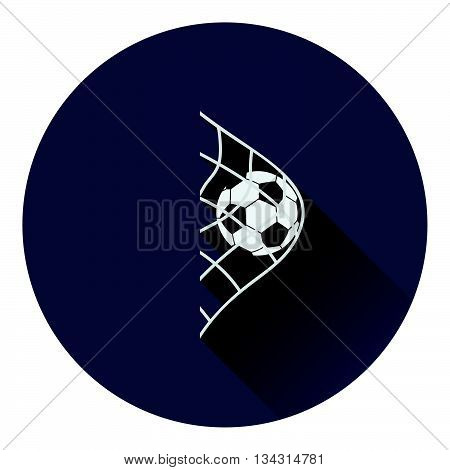 Icon Of Football Ball In Gate Net