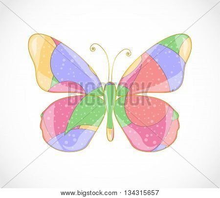 Beautiful colorful abstract butterfly. Illustration 10 version