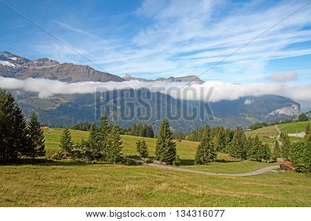 Autumn landscape in the Jungfrau region