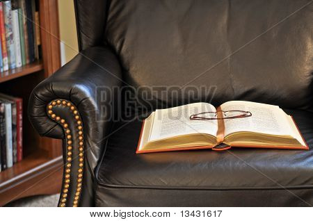 Classic Book On Reading Chair