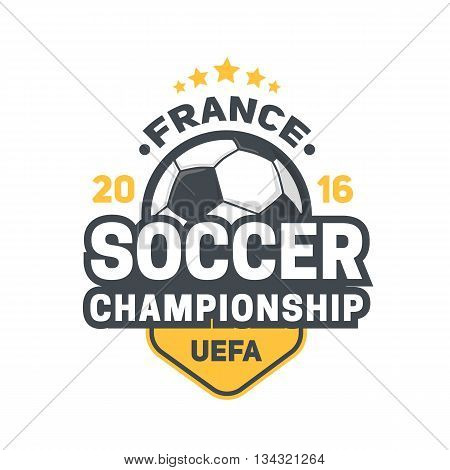 Soccer championship in France. Vector illustration easy to edit