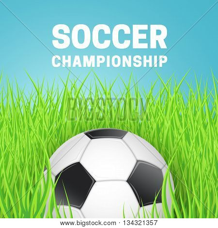 Soccer bright background. Vector illustration easy to edit.