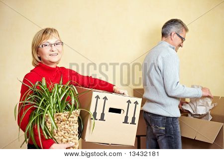 Senior Couple Preparing For Relocation