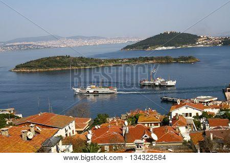 Prince Islands in Marmara sea, Istanbul Turkey.