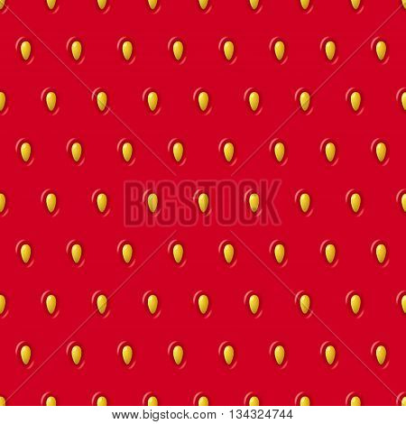 Vector Seamless Strawberry Texture. Red Pattern With Berry And Seeds. Close-up Of Strawberry. Design
