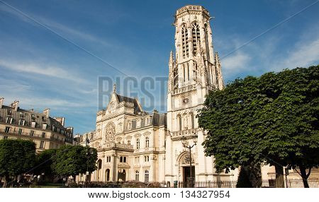 The town hall of 1st arrondissement of Paris is a striking eclectic building where neo Renaissance French Renaissance and Flamboyant Gothic architectural features beautifully blend.