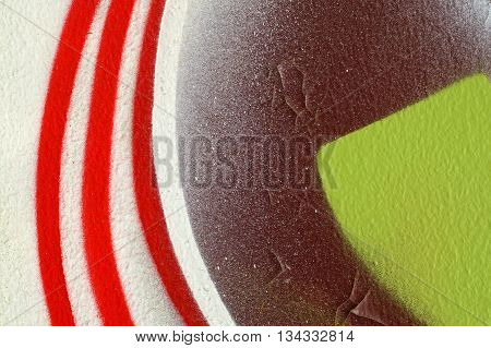 Abstract Colourful Background-close Up-street Art